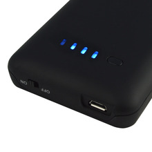 2500mAh Rechargeable Backup External Battery Case Charger Case 4 LED Power Bank Pack Powerbank Cover Case for iPhone 4 4S