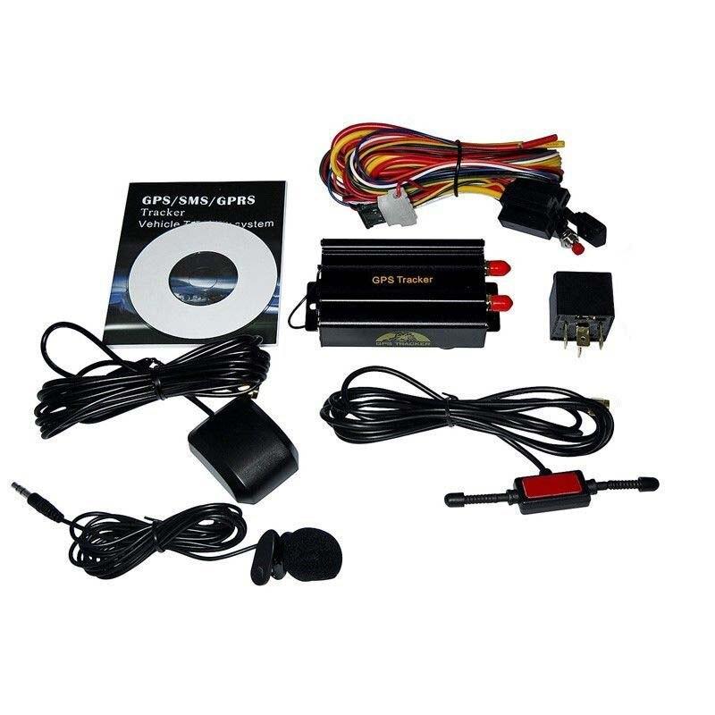Traqueur de gps de voiture de véhicule en temps réel avec le dispositif de traqueur de voiture de GPS 103A TK103A