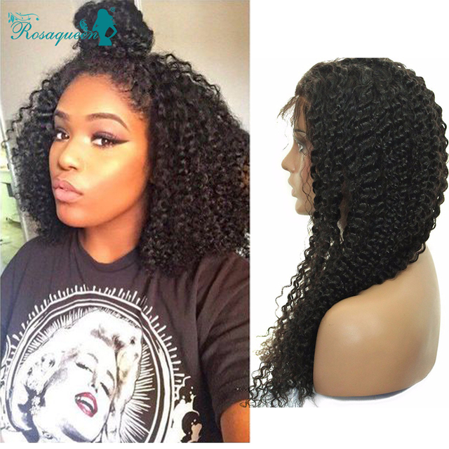 Full Lace Human Hair Wigs For Black Women 8A Lace Front Human Hair Wigs With Baby Hair Kinky Curly Malaysian Human Hair Wigs