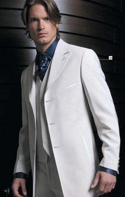 Mariage Costumes Hommes Boutons The Made Gilet Haute Cravate As Maximale Epoux Mode Qualité Trois De custom Costume veste Image Smokings Pantalon Revers Marié Blanc Fq7qOxnY