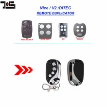 For V2, Ditec GOL4, Nice Flors, Nice One compatible Remote Control duplicator Fob 433.92MHz rolling code