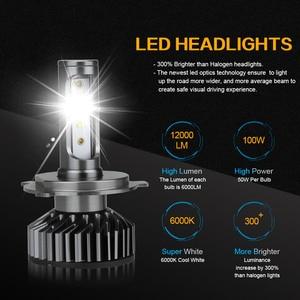 Image 2 - Zdatt H7 LED H4 H1 H11 9005 9006 자동차 헤드 라이트 전구 12000LM 6000K 12V 차량 자동차 안개 조명 HB3 HB4 램프 터보 팬