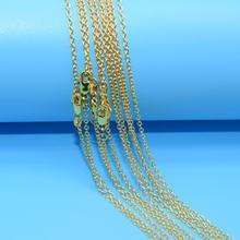 Акция 10 шт/лот! Оптовая продажа золотое ожерелье Модная бижутерия