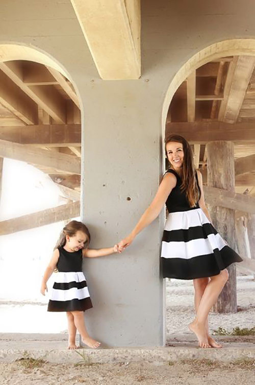 d9987954669a4 Family Matching Clothes Summer Mother Daughter Dresses Striped Mom and  Daughter Mommy and Me Dress Family Look Outfits clothes