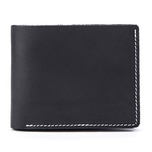 Mens Crazy Horse Skin Multi Card Wallet Leather Retro Trend Fan Simple Short Coin Purse