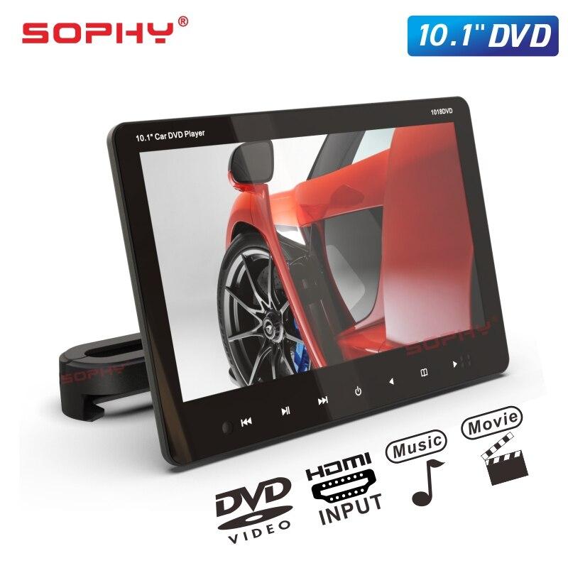 10,1 zoll Auto Monitor DVD Player USB SD FM HDMI Video Eingang/Ausgang SH1018 DVD