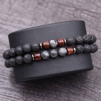 Couple bracelet set natural Stone bracelet/beads/lava/homme/fashion/bangles Bracelet Men Wooden bead mala bracelets Accessorie J
