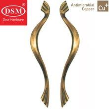 Антимикробная Медь Cu + дверные ручки PA-301-L520mm твердая латунь тянуть для входа Деревянный/рамки/Стекло дверные рамы