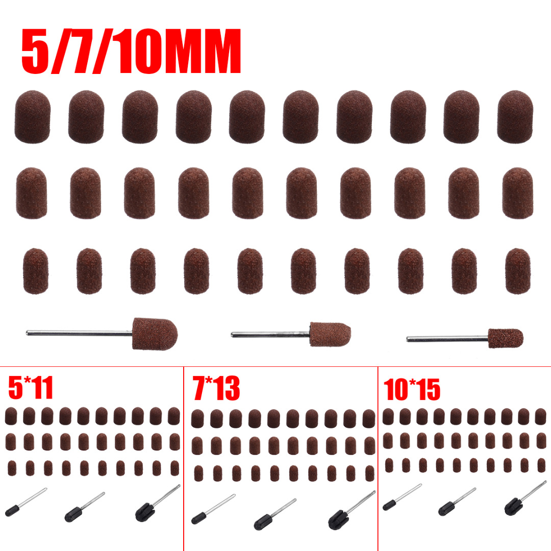 10pcs Nail Drill Bit Sanding Caps Cutters For Pedicure Manicure Electric Remove Calluses Polishing Accessories Abrasive Tools