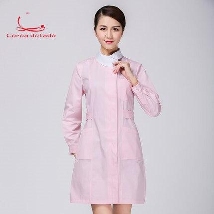 Alx-nurse Wear Body Suit Short Sleeve Slender Month Sister-in-law Nursing Suit Long Sleeve Winter Doll Collar Beauty Work Suit Nurse Uniform Work Wear & Uniforms