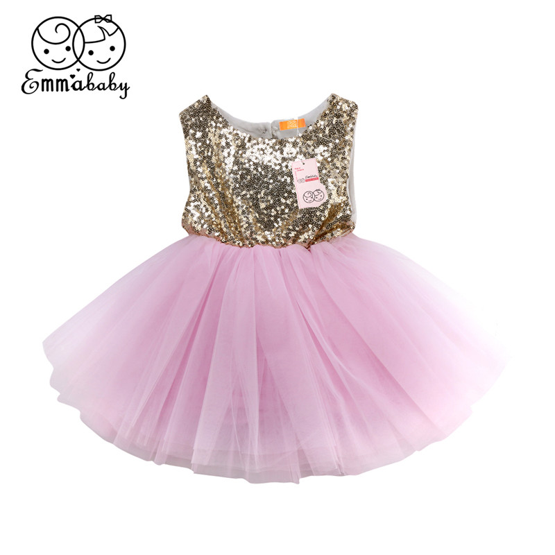 Baby Girls Formal Dresses Hot Sale Sequins Dress For Girls Kids Baby Girl Tutu Pageant Party Dress Girl Gown Bridesmaid Vestidos