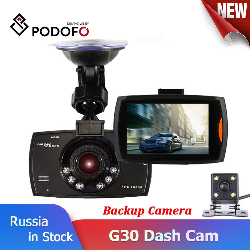 Podofo Car DVR Camcorder Camera Recording Car-Dash 1080P 30 With Cam-Loop Dual-G30 Two-Lens