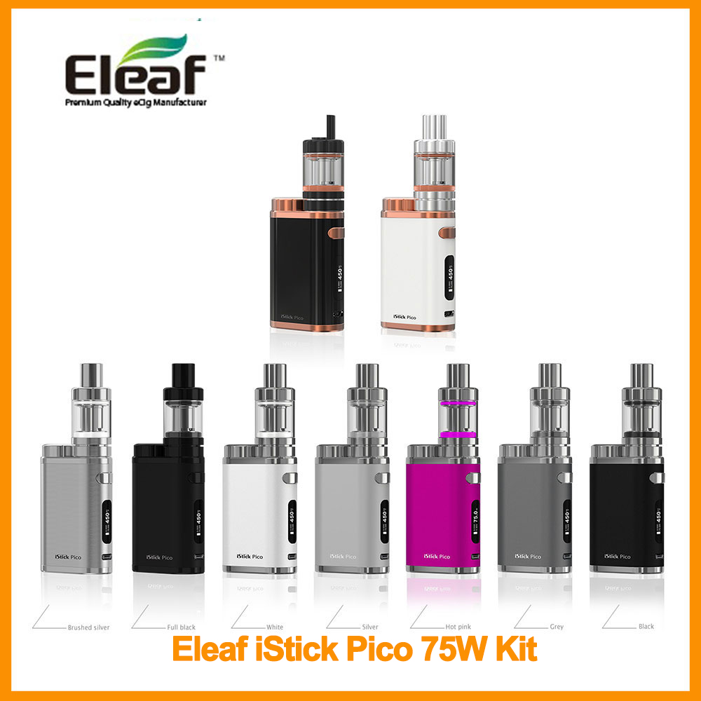 Russian Warehouse Original ISmoka Eleaf IStick Pico 75W Kit With 2ml Melo 3 Mini Atomizer With EC Head Vape E-Cigarette