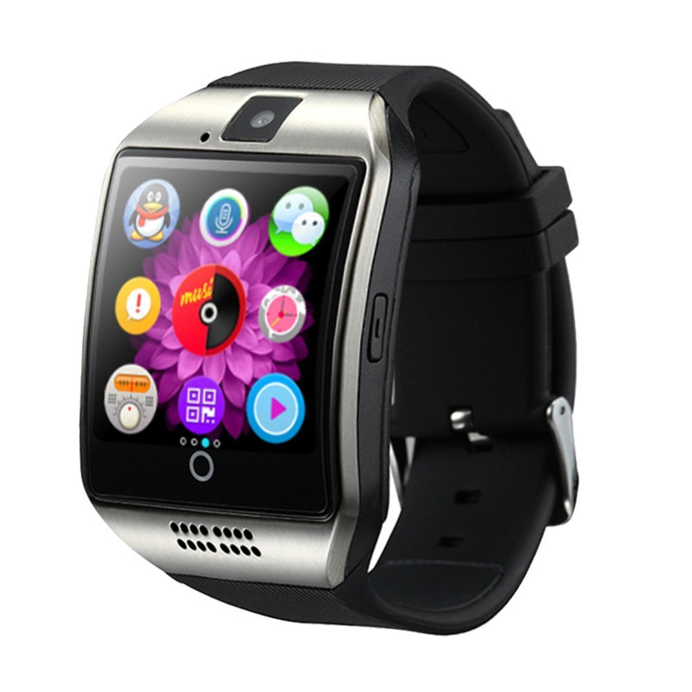 New Version Bluetooth Smart Watch Q18 MP3 Music Player With Touch Screen Support TF/ Sim Card Camera for Android Phone image