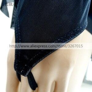 Image 5 - Платье для фигурного катания, женское платье для катания на коньках для девочек, одежда для конкурентоспособных представлений с круглым вырезом и длинным рукавом, черное платье с открытой спиной