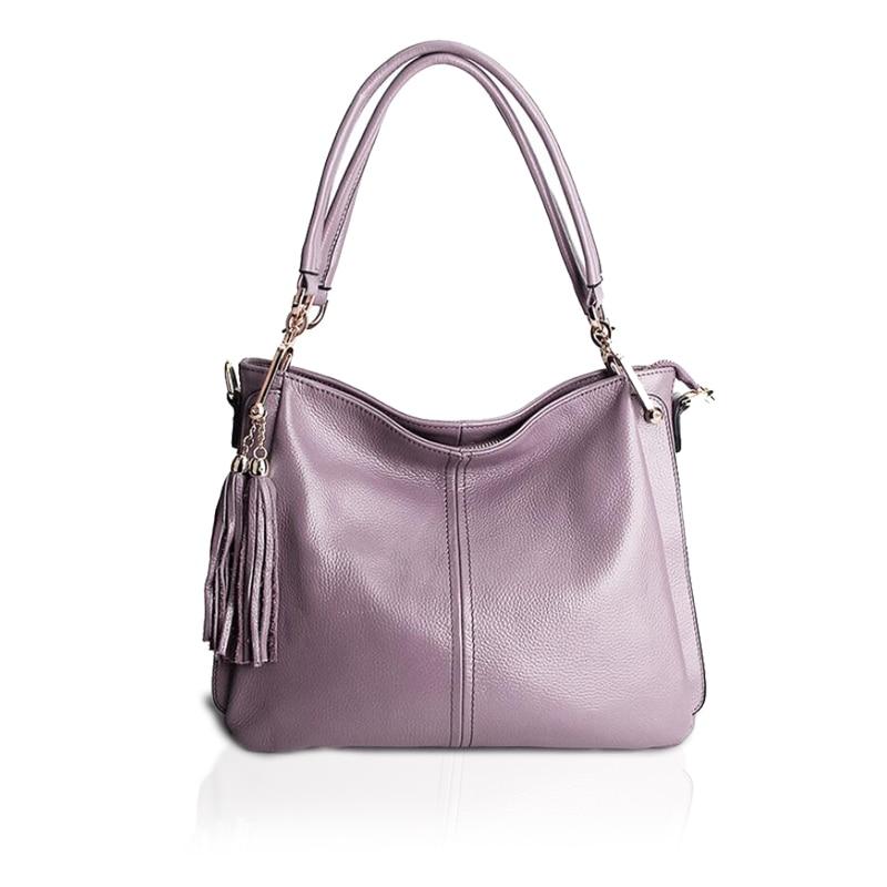Bandoulière gray De Bag Bolsas tout Pour Bag Femmes Dames Main Bag Véritable Fourre En purple Bag Bag red Designer Sacs À Cuir Luxe Gland Sac Black blue O16EA