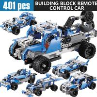 401PCS DIY Kit R/C 10 in 1 Race Cars Building Bricks Radio Control Racing Toy For Remote Controls toys 2sw0820