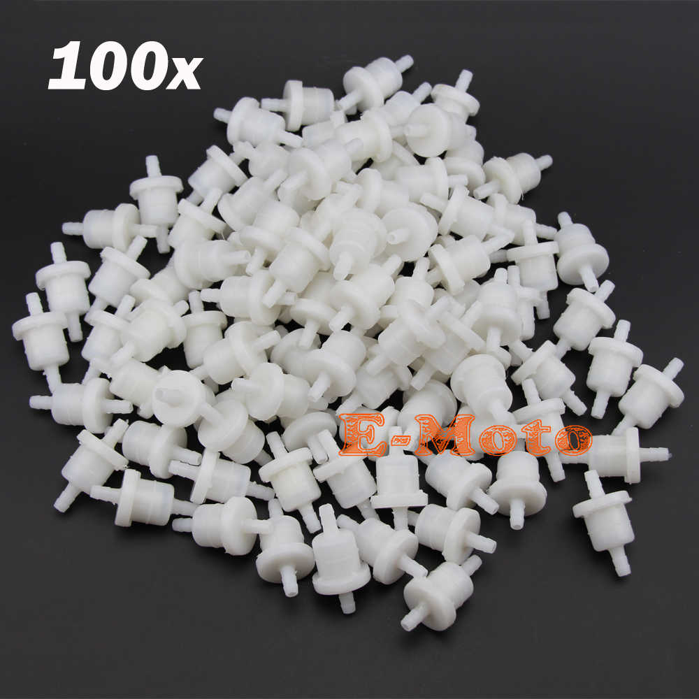 100pcs Inline Petrol Cleaner FUEL FILTER FOR GY6 49CC 50CC 125CC 150CC  SCOOTER MOPED JONWAY LANCE ZNEN TANK NST E-Moto