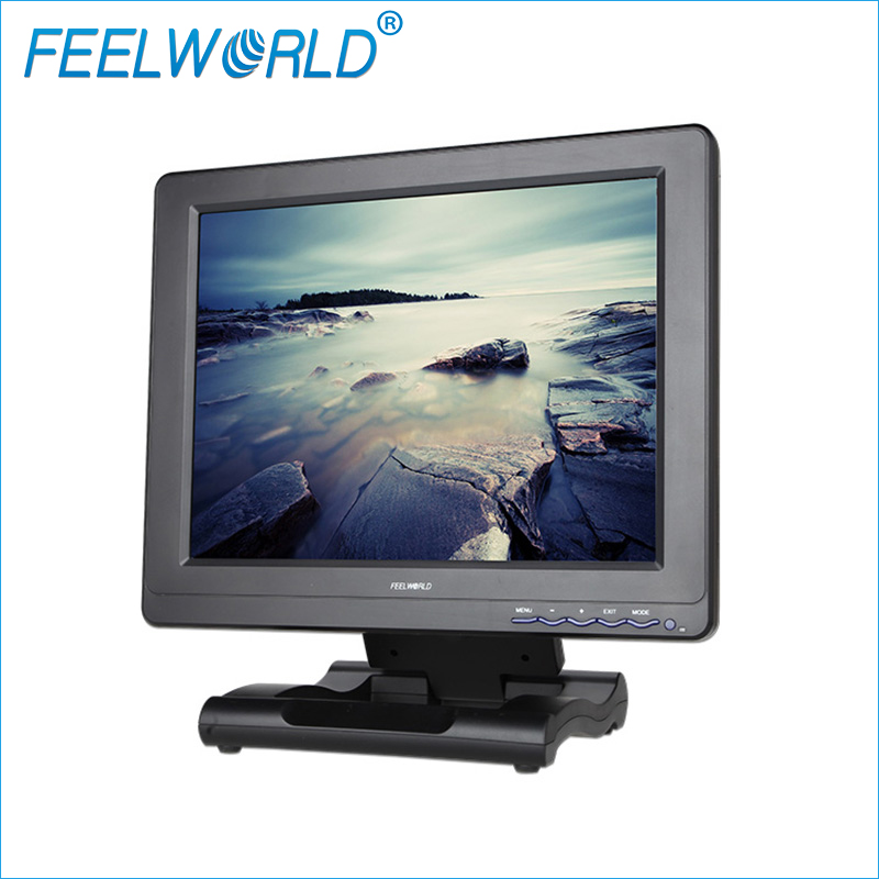 FW121-3HSD 12.1 Inch HD Broadcast Monitor with 3G-SDI HDMI Composite Component input 12.1inch Feelworld LCD Desktop Monitors