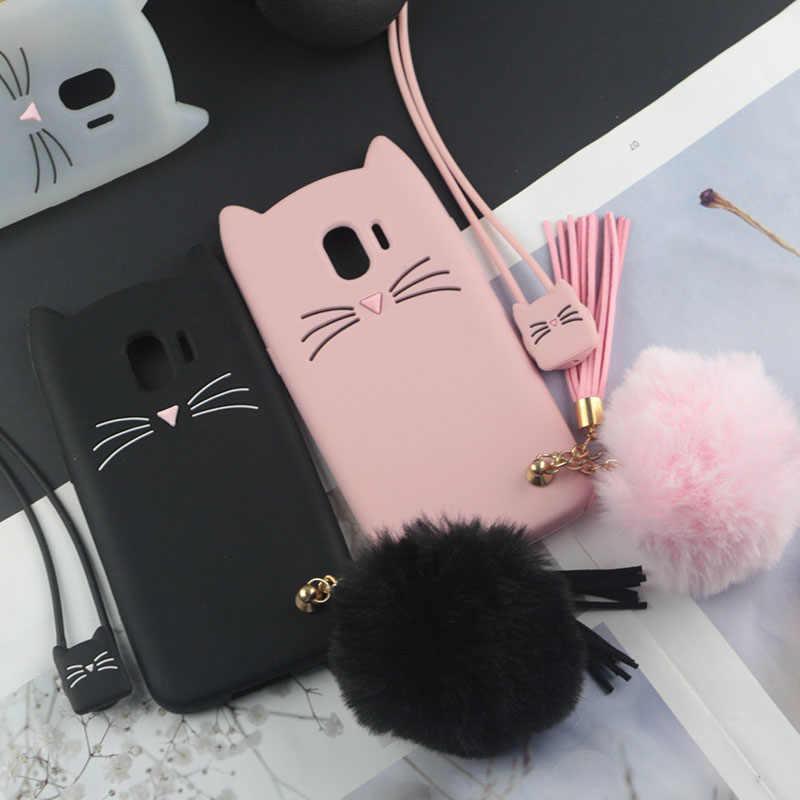 Carino Giappone Caso Bello Del Gatto per Samsung Galaxy J8 J7 J6 J5 J4 J3 J2 J1 mini Prime Plus Pro ace Max Neo Nucleo 2015 2016 2017 2018