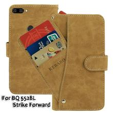 Vintage Leather Wallet BQ 5528L Strike Forward 5.45 Case Flip Luxury Card Slots Cover Magnet Stand Phone Protective Bags