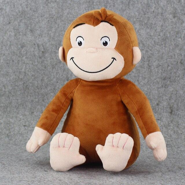 1 шт. 30 см Любопытный Джордж Плюшевые Куклы Сапоги Обезьяна Плюшевые Игрушки Животных
