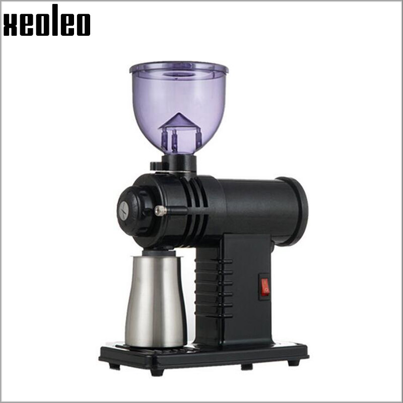 Xeoleo Electric Coffee grinder Coffee mill household Coffee bean milling machine Grinding machine 220V 1~8 gears adjustable bear 220 v hand held electric blender multifunctional household grinding meat mincing juicer machine