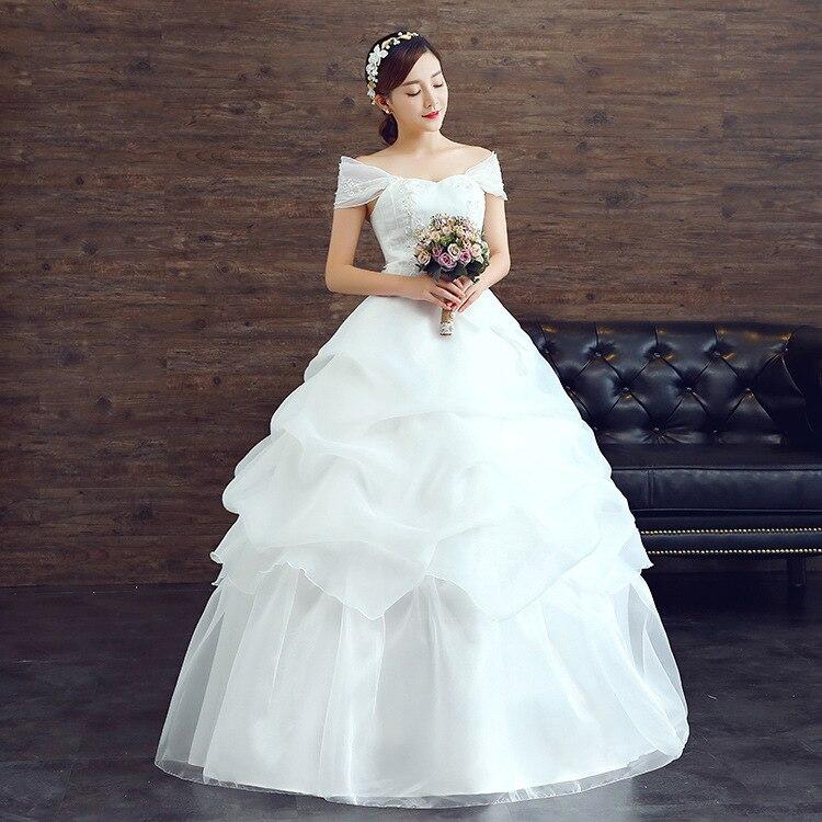 2016 aliexpress automne organza nouveau mariage gaze robe volants une paule de mariage robe de marie robe robe de marie p - Aliexpress Mariage