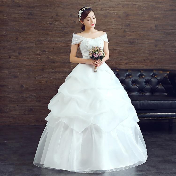 Tiered Wedding Gown: 2016 Aliexpress Fall Organza New Wedding Gauze Tiered