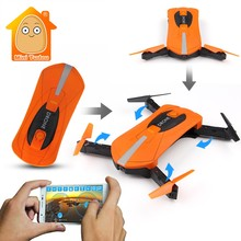 MiniTudou JY018 Foldable Mini Selfie Drone Camera Altitude Hold FPV Quadcopter WIFI Phone Control RC Helicopter Pocket Drone(China)