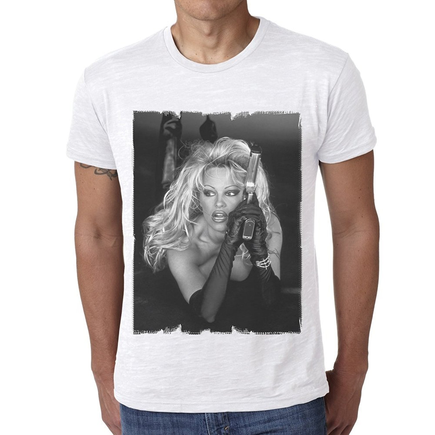 Online buy wholesale pamela anderson from china pamela for Celebrity t shirts wholesale