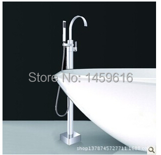 Floor Mouted Freestanding Bath Tub Mixer Tap handle Shower Clawfoot Faucet W6027 815