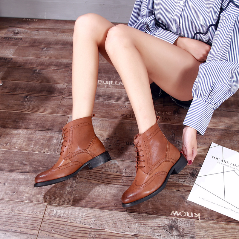 Centenary Genuine Leather ankle boots for women Chelsea Boots women winter boots Pointed Toe shoes woman in Ankle Boots from Shoes