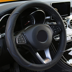 Image 4 - 9 ألوان عجلة توجيه سيارة غطاء العالمي Volant جديلة على المقود الموضة عدم الانزلاق Funda Volante السيارات السيارات التصميم