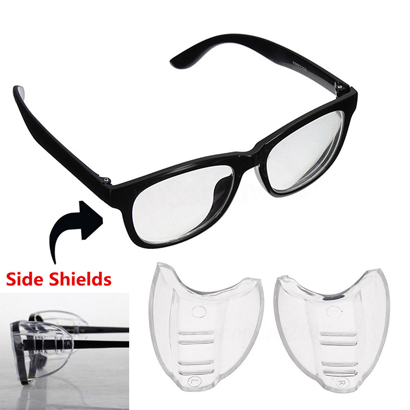 2Pcs PVC Safety Optical Aye Mate Side Universal Shields Glasses Wings Safety Glass Flexible Slip-On Protector Eyewear Goggles