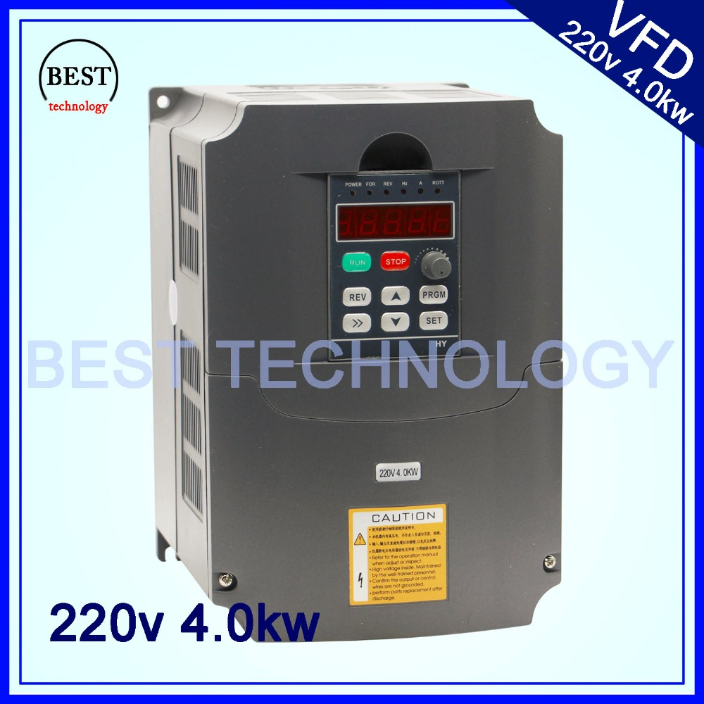 220v 4 0kw VFD Variable Frequency Drive VFD Inverter 1HP or 3HP Input 3HP Output frequency