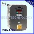 220 В 4.0kw VFD привод переменной частоты VFD/инвертор 1HP или 3HP вход 3HP Инвертор Выходной частоты