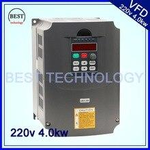 220 В VFD Переменной Частоты Vfd 4.0kw/Инвертор 3HP 1HP или 3HP Вход Выход преобразователь частоты