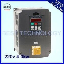 4.0kw 220 v Vfd Frequenza Variabile VFD/Inverter 3HP 1HP o Ingresso 3HP inverter di frequenza di Uscita