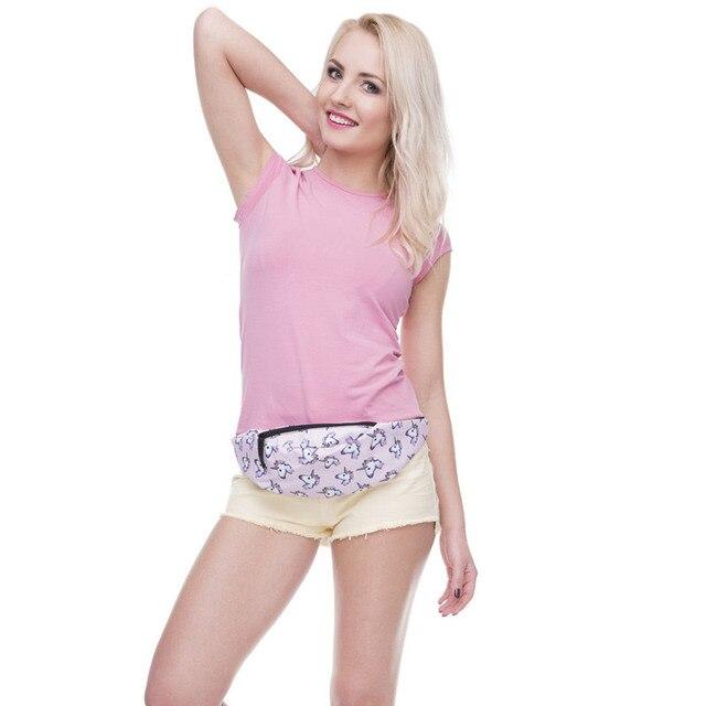 Jom Tokoy New 3D Colorful Waist Pack for Men Fanny Pack Style Bum Bag unicorn Women Money Belt Travelling Mobile Phone Bag 3