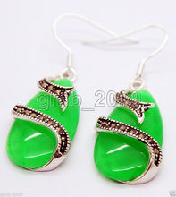 цены women jewelry Brincos earring Pendientes Natural Green Pink Jade corundum long waterdrop 925 sterling silver drop earrings