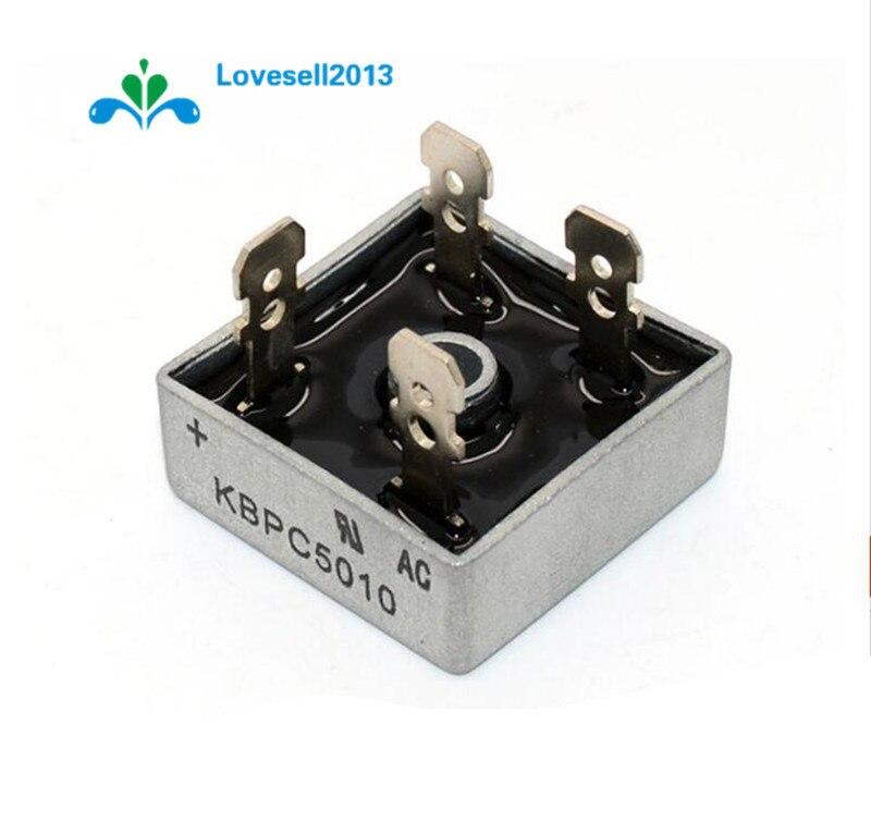 1 Stücke 50a 1000 V Metallgehäuse Einzigen Phasen Diode Brückengleichrichter Kbpc5010 Eine Hohe Bewunderung Gewinnen