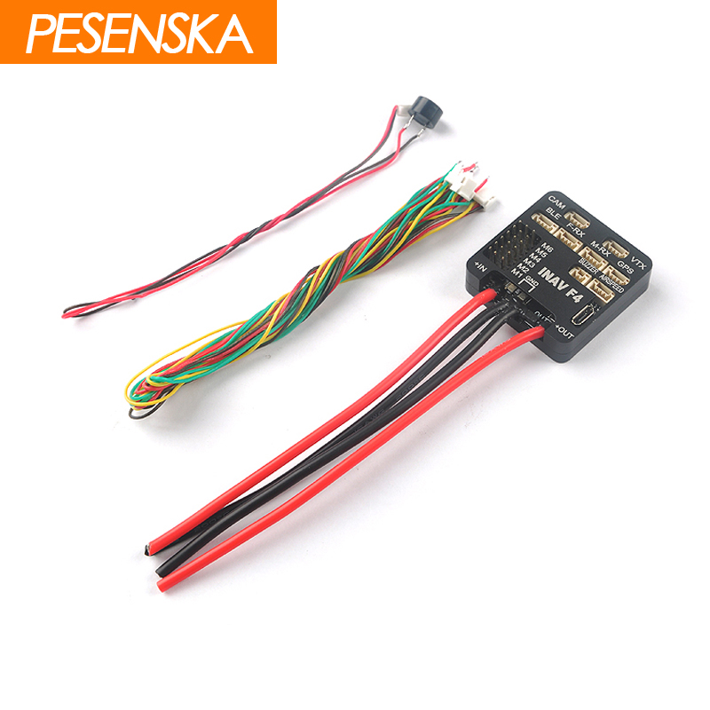 PESENSKA Inav F4 Flight Controller Standard Deluxe Version Integrated OSD Buzzer W Without M8N GPS Airspeed