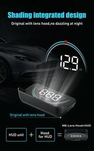 Image 3 - M8 wyświetlacz samochodowy HUD Head Up OBDHUD 3.5 Cal nowy OBD temperatura nadmierna prędkość RPM ostrzeżenie alarmy napięciowe kolorowy wyświetlacz LED