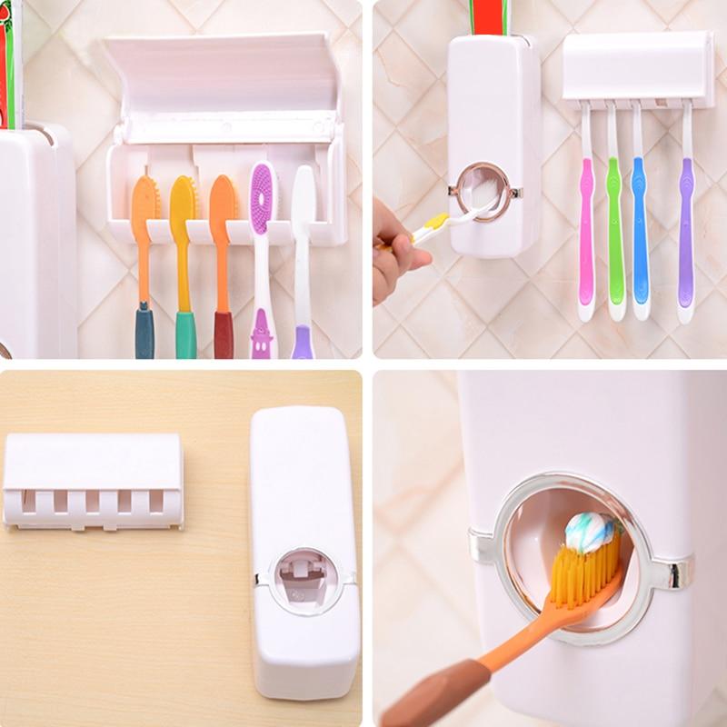 Forró értékesítés Jó minőségű automatikus fogkrém adagoló család fogkefe tartó