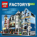 2016 Nueva Lepin 15007 Fábrica Calle de La Ciudad Modelo de Mercado Europeo Conjunto de Bloques de Construcción Ladrillos Kits figuras brinquedos