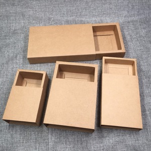 Image 2 - 50pcs Kraft Gift Packing Boxes Blank Paper Drawer Box DIY Storage Boxes for Handmade Soap/Gifts/Crafts/Jewelry/Candy/Cake/Rose