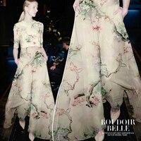 [Весна] шелковые деревья бороться Европа genduan атласные шелковые ткани цифровой печати Tiancan шелковая ткань Скелет Ткань
