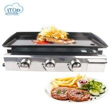 купить Stainless Steel Commercial / Household LPG Gas Grill No-smoke Steak Teppanyaki Large Barbecue Machine BBQ Party DE in stock по цене 12367.67 рублей