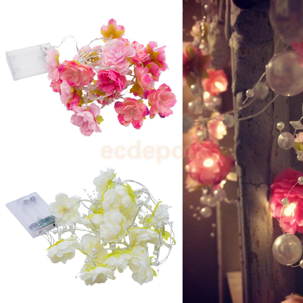 Aliexpress Buy 2m Pearl String Rose Garland Fairy Lights With